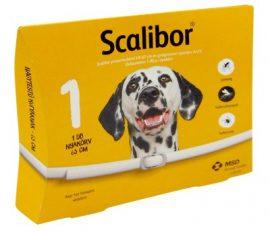 SCALIBOR KULLANCS-ÉS SZÚNYOGELLENI GYÓGYSZERES NYAKÖRV kutyának 48 cm