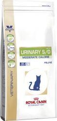URINARY S/O MODERATE CALORIE száraz táp macskának 1,5 kg