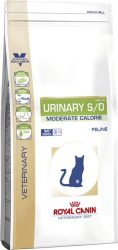 URINARY S/O MODERATE CALORIE száraz táp macskának 7 kg