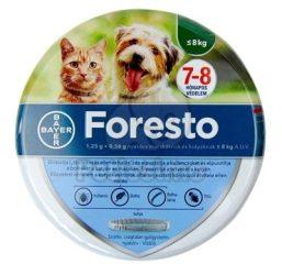 FORESTO bolha- és kullancsnyakörv 8 kg alatti kutyának és macskának (38 cm)
