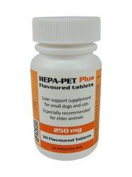 HEPA-PET PLUS ízesített tabletta 250 mg 30 db. kutyának, macskának